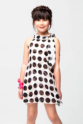 Missie in polka dot sun dress